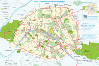 Plano de carriles bici de Paris