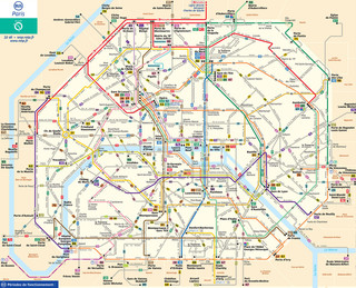 Plano de la red de autobus de Paris